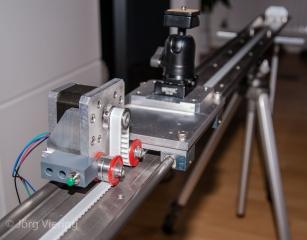 Kamera Slider im Bau